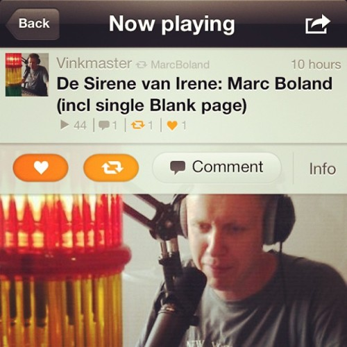"""Blank Page"" debut on Dutch radio! (dutch spoken) http://soundcloud.com/vinkmaster/de-sirene-van-irene-marc"