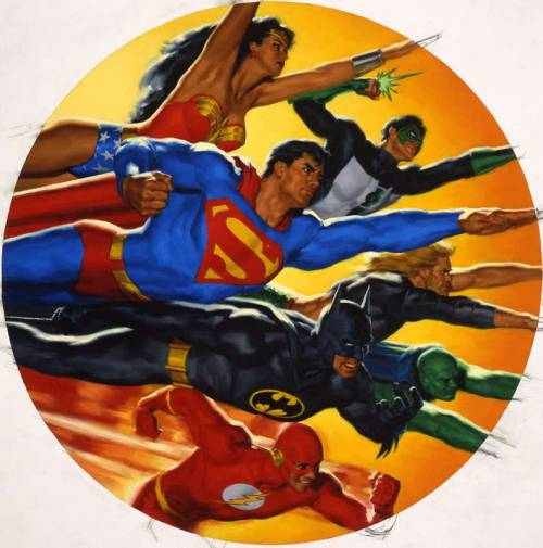 brudesworld:  Justice League of America by Glen Orbik. http://www.orbikart.com/