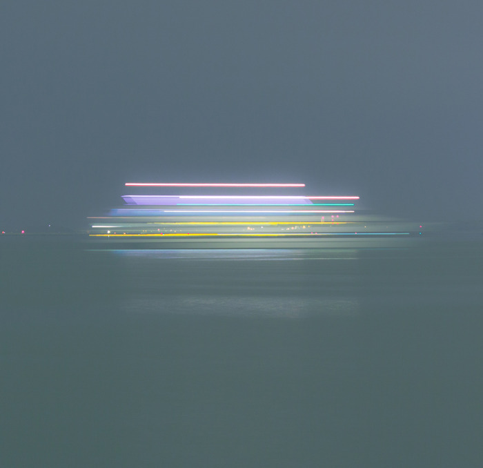 barretoart:  Series of Photographs of boats movements at night  - Daniel Barreto