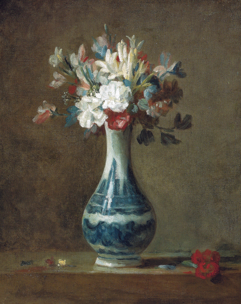Jean-Simeon Chardin - A Vase of Flowers, 1750's at the National Gallery of Scotland Edinburgh Scotland