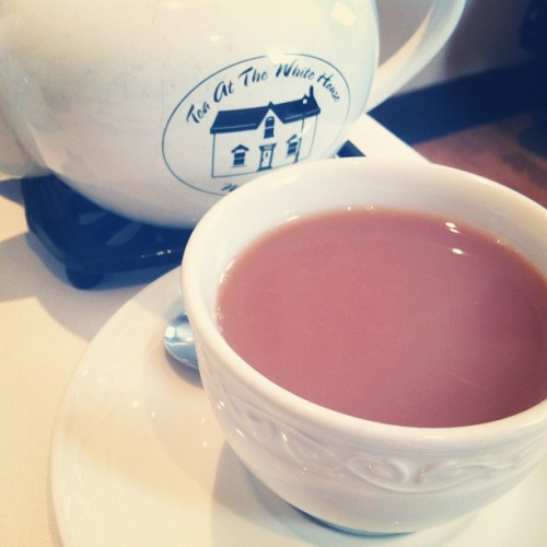 Cream of earl grey at tea at the whitehouse fav place ever #whitehouse #tea #teapot #drink