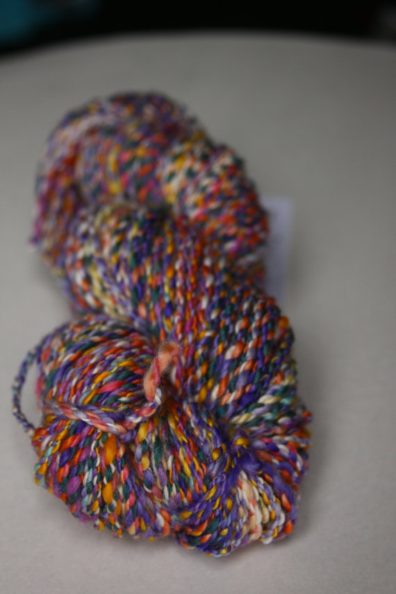 Let's start 2013 off with some stunning handspun yarn porn.  The colours are fab!  Lovely.
