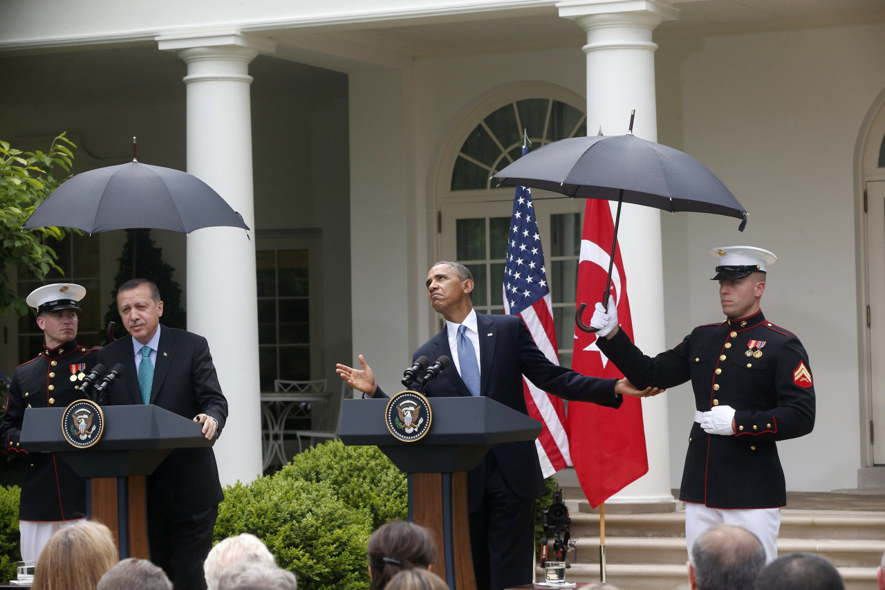 PHOTO OF THE DAY: The meteorologist-in-chief (AP Photo/Charles Dharapak)