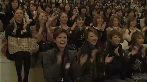 I think it's precious when the rest of the troupe is sitting in the audience during the performance of the others :D