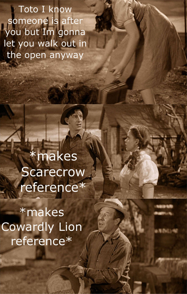 thewintersoldiersbutt:  Happy 75th Anniversary to The Wizard of Oz! To celebrate, I present to you; Movies in a Nutshell: The Wizard of Oz