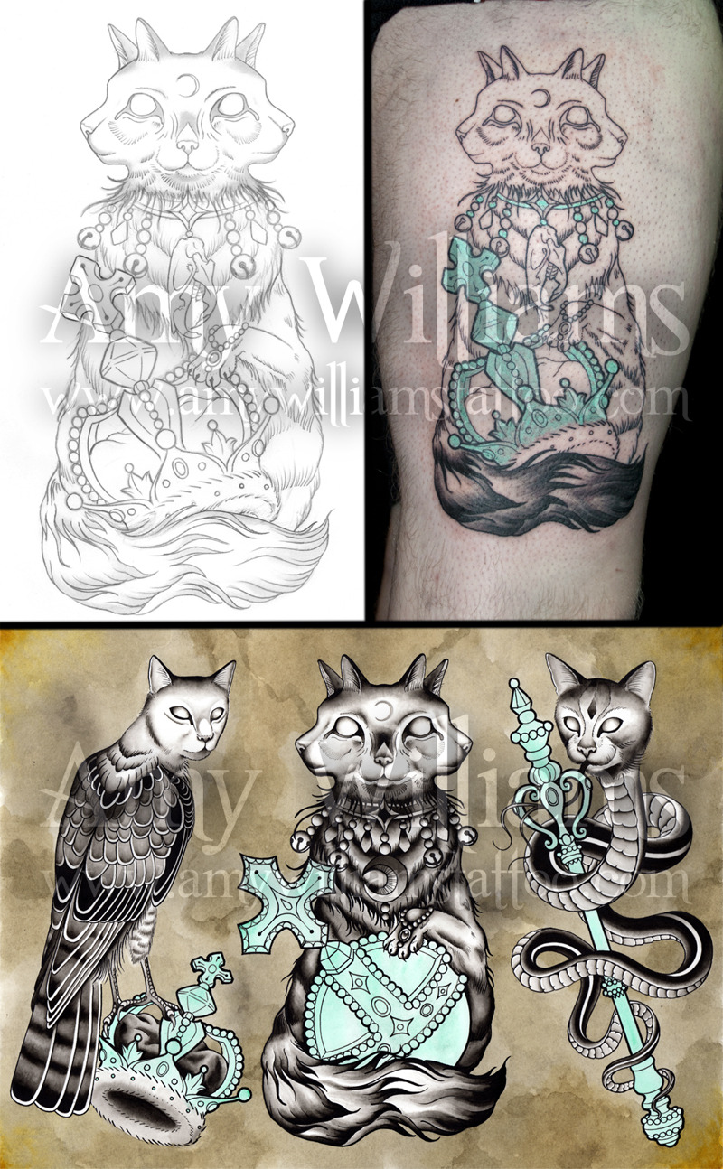 Tattoo work-in-progress and flash by Amy Williams  #amybirdart