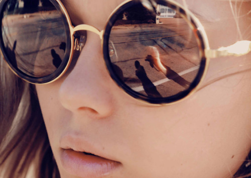 rosy-kissess:  wildfox:  Staring at the sun in our Winona frames  ♡ more rosy here ♡