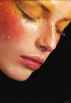 make-up-is-an-art:  Polina Kouklina for Vogue Nippon, October 2003