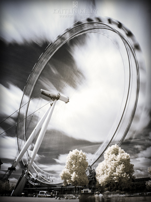 London Eye, shot in digital infrared.—© 2013 Kaitlin KellyNikon D200 + 28mm lens