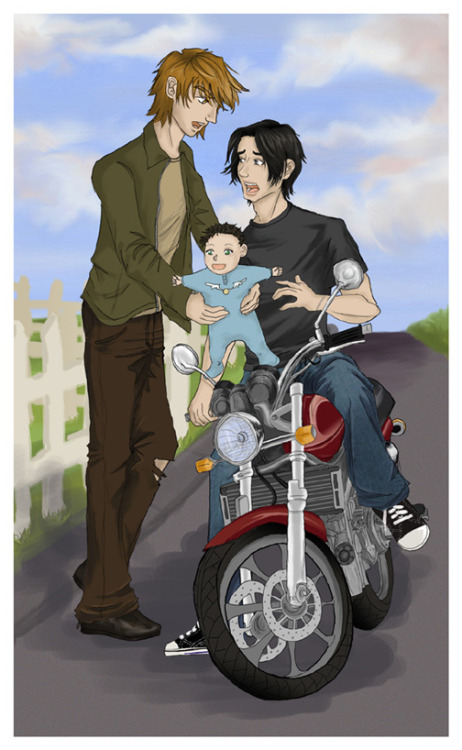 everythings-wolfstar:  HP - Babysitting by ~Kibo