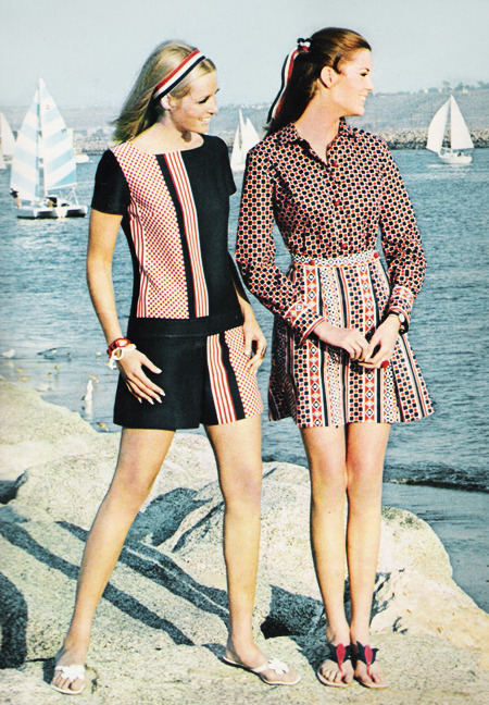 "justseventeen:   March 1968. ""Snapping it up here, in the Marina del Ray Boating Community at Venice, signal colors with a seaside message."""