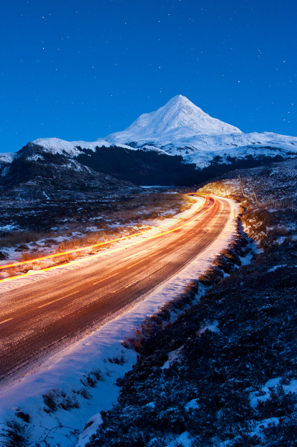 travelingcolors:  Night Trails | Scotland (by Dan Tucker)