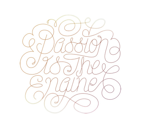 typeverything:  Typeverything.com - Passion by Luke Ritchie (via Dribbble )