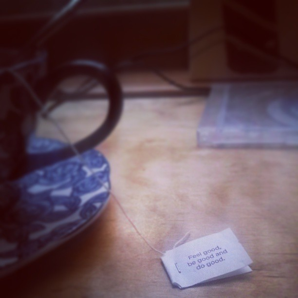 Tea and thunderstorms #yogitea #wisdom #love #good #teacup #yum #blue