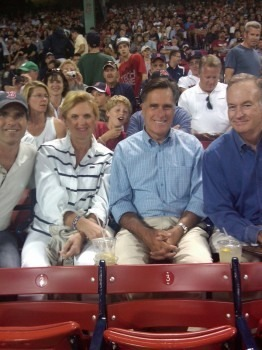 romney101:  Mitt & Ann with their son Tagg and I'm not sure who the other guy is!  Bill O'Reilly