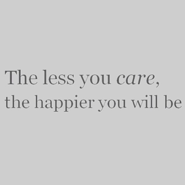 The less you care, the happier you will be  #love #instagood #me #cute #photooftheday #henparty #birthday #friends #beautiful #followme #summer #smile #beauty #beautiful #friends #mylife #fashion #stylist #instagood #instamood
