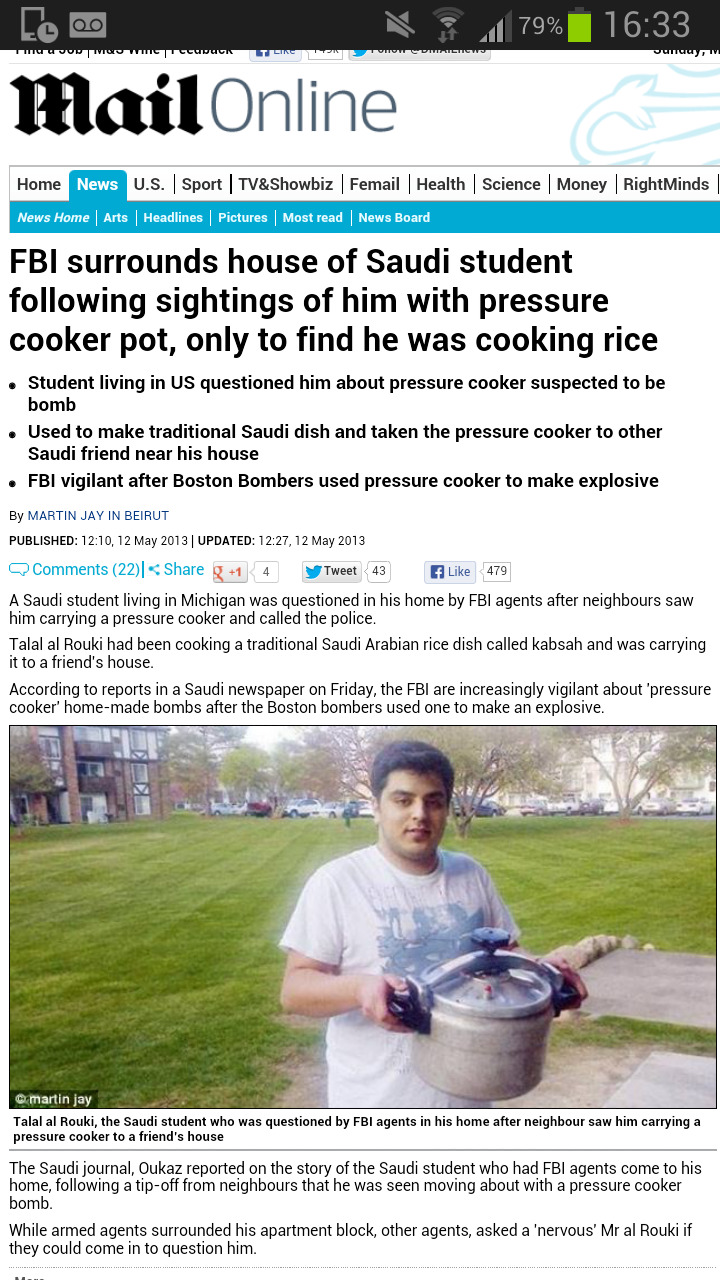 succinctly:  taweeelashawq:  so anyone with a pressure cooker is a 'bomber'  My God