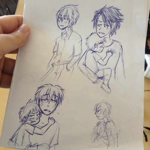 cows-quack:  Some old #beelzebub doodles  D'aww I love kindergardener Beel!  Oga looks appropriately weary too.