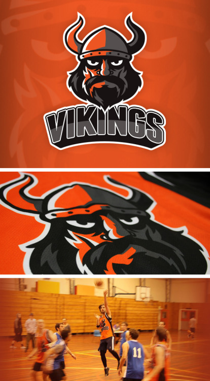 Vikings BasketballLogo and uniform design for the social basketball team I play on
