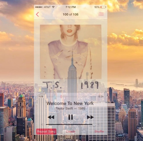 youvegotbeauty:  foreverlovetaylor:  taylorswift I MADE DIS. #WelcometoNewYork is awesome!  Clearly I'm obsessed, and I don't even like New York. EVERYBODY HERE WAS SOMEONE ELSE BEFORE  I may have aged out of 22 but now I can just blast this all the time.