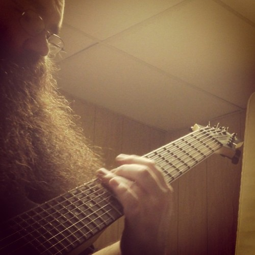#tbt #beard #guitar #8 #string