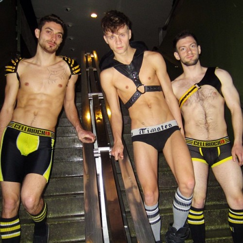 Last Instagram shot of Black Party Expo. @maxrydernyc and the #CockyBoys in undies & leather! Too hot. (at Roseland Ballroom NYC by Plaintruthiness)