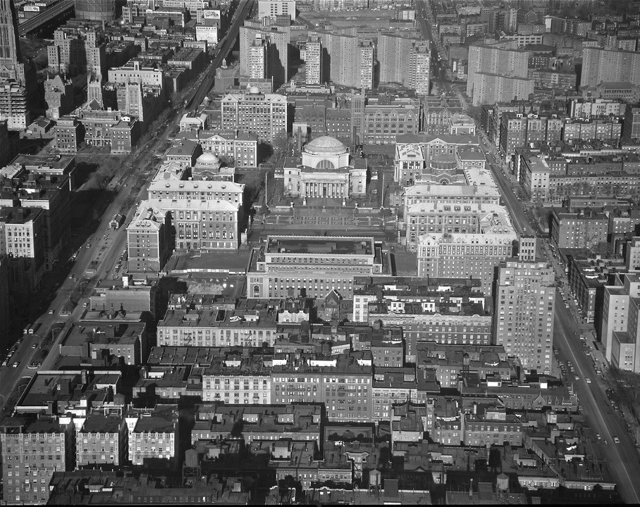 Columbia University in 1957, New York City
