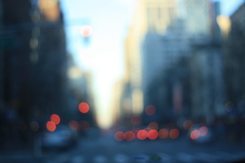 Midtown in bokeh.