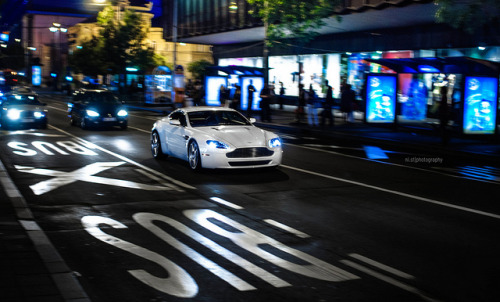Belgrade summer nights. on Flickr.Via Flickr: Aston Martin V8 Vantage in Belgrade, Serbia