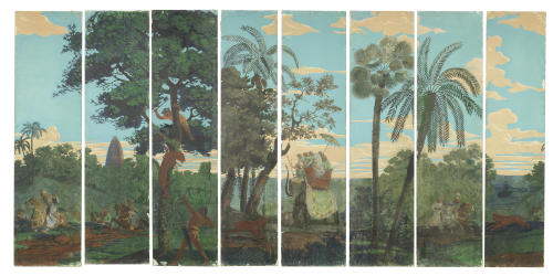 The great tiger hunt, Indian School, 19th century