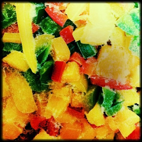 #colour #multicoloured #iced #ice #food #red #yellow #green #trafficlights #peppers #pretty #frosted