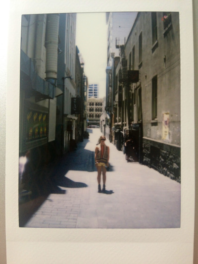 Polaroids in town today