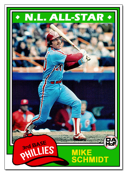 dahofcards:  1981 Topps Mike Schmidt redux card