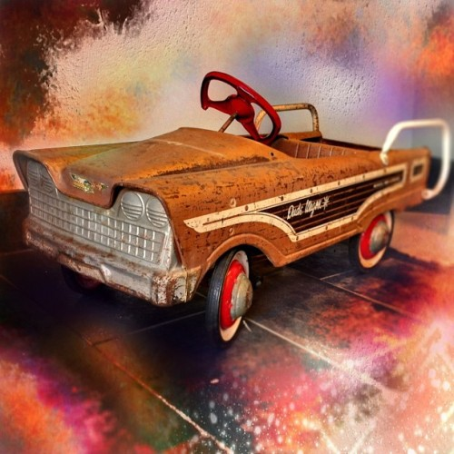 Old, children's peddle powered toy car …. #iphone #photo #photography #old #antique #vintage #retro #toy #child #children #kid #car #fun #colorful #color #wexford #pa #pittsburgh #pennsylvania #us #usa #america #stilllife