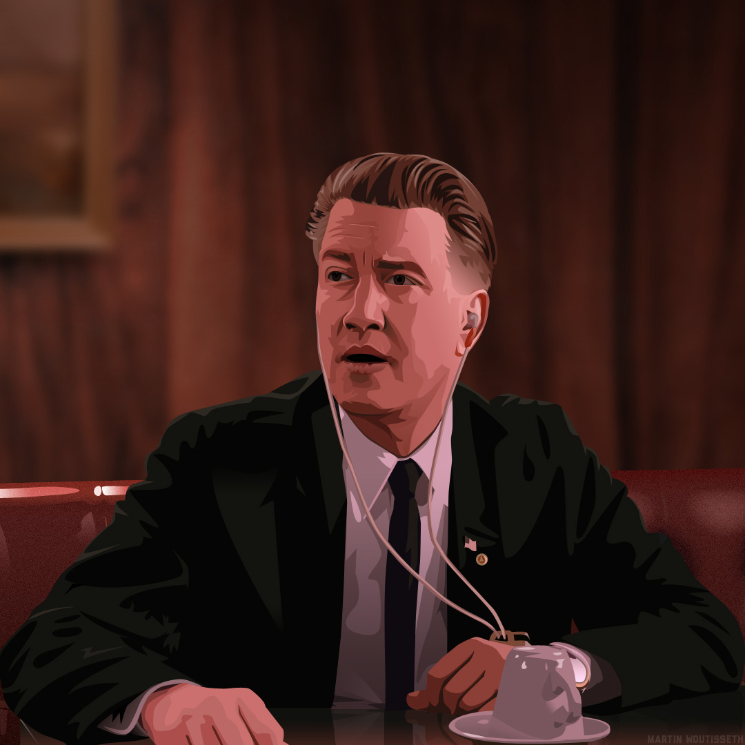 Twin peaks illustrated - Gordon Cole by Martin Woutisseth