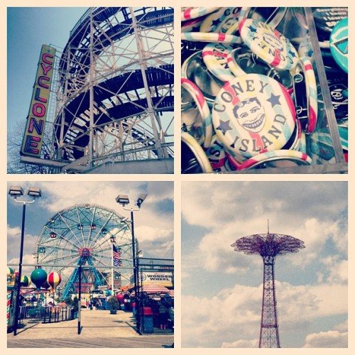It's 64 degrees outside and we're exploring #Brooklyn!  (at Coney Island Beach & Boardwalk)