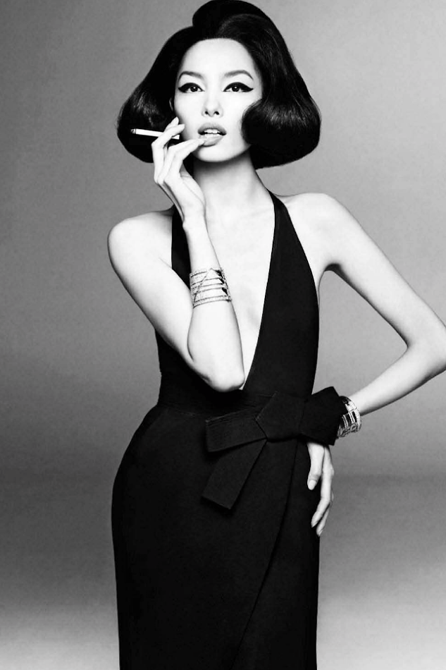 Fei Fei Sun by Steven Meisel for Vogue Italia, January 2013
