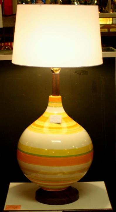 Brighten up your living space or office with this striped Italian pottery lamp.  @Dealer 25 for $95 http://on.fb.me/10q79Xq