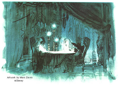 thehauntedmansiondisney:  Disney Imagineer Marc Davis Concept Art