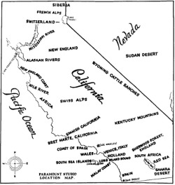 mapsontheweb:  Paramount Studios' Map of California Geographical Facsimiles for FilmingSource: Ambrosia Voyeur (flickr)
