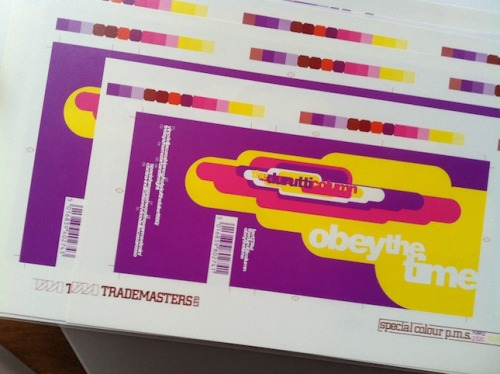 Artwork proofs for an unreleased DAT version of Durutti Column's Obey The Time. Design by 8vo, 1991. More here, via Cerysmatic.