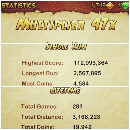 Will have to earn coins again . Ang mahal ni Karma Lee. #templerun2