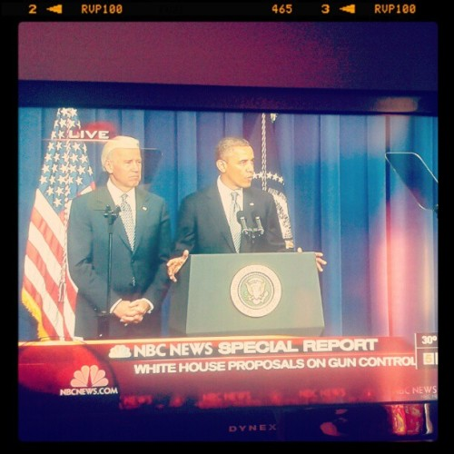 President Barack Obama and VP Joe Biden at the White House presser on Gun Control proposals. #Biden #Obama #Guns #PressConference #presser #whpressroom #pressroom #instapolitics