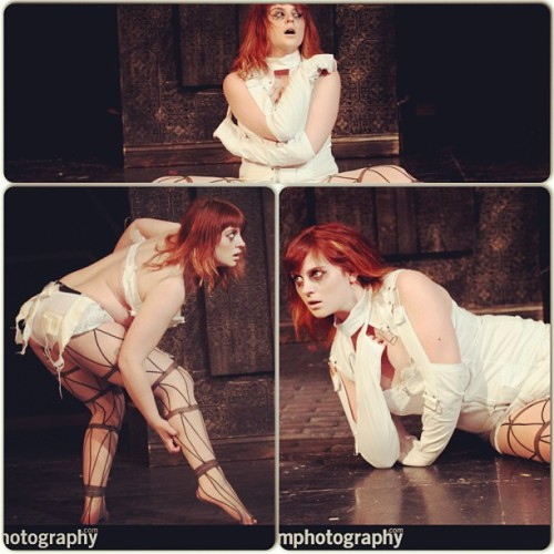 "Great photos from my ""psychotic girl"" act #burlesque #chicago #vaudezilla"