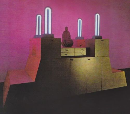"vuls:  Ettore Sottsass ""An Altar (Very Private):  For the Meditation of Personal Memories,  with Drawers: In Which to Conserve Leaves and Pedals  of Long-Gone Springs Gathered  with  Nanda Along the Banks of the River Love"" 1969 National Museum Stockholm"