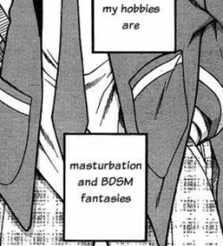lesbianese:  literally me   Is it bad that I know which manga this is from…?