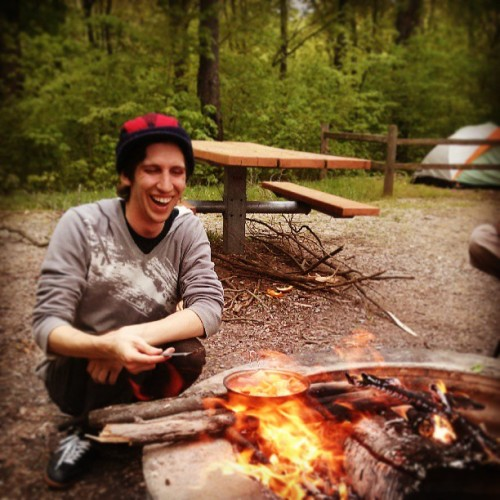 Campfire cooking #alineaontherange (at Portage Lake Campground (Waterloo State Rec. Area))