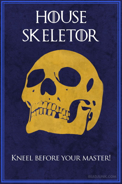 "House Skeletor ""Kneel Before Your Master!"""