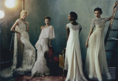 mirnah:  Caroline Trentini, Kasia Struss, Jourdan Dunn, & Miranda Kerr by Norman Jean Roy for Vogue February 2013