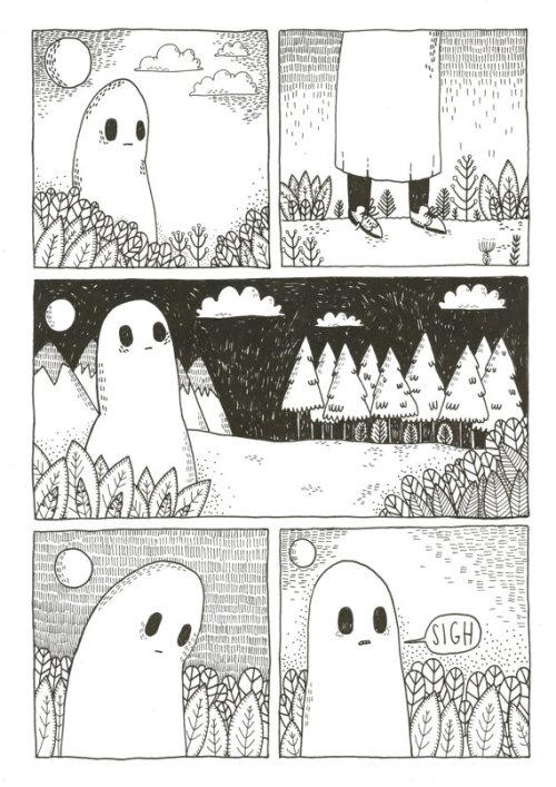 digital print sad ghost ghost comic art art on etsy